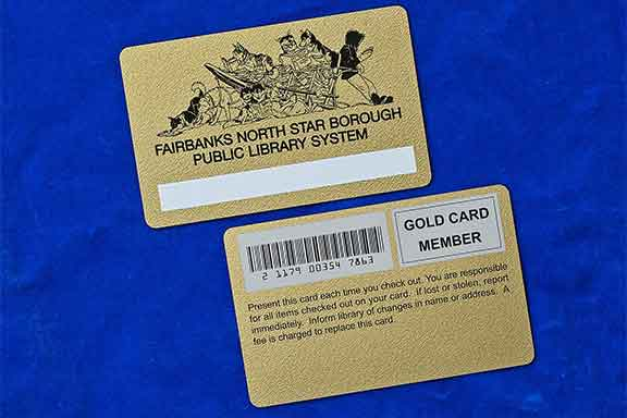 Gold Library Card