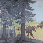 Bill Berry Mural at the FNSB Library