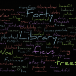 Celebrate the 40th with a Ficus word cloud